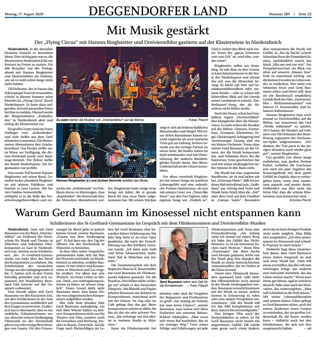 Deggendorfer Zeitung 17. August 2020