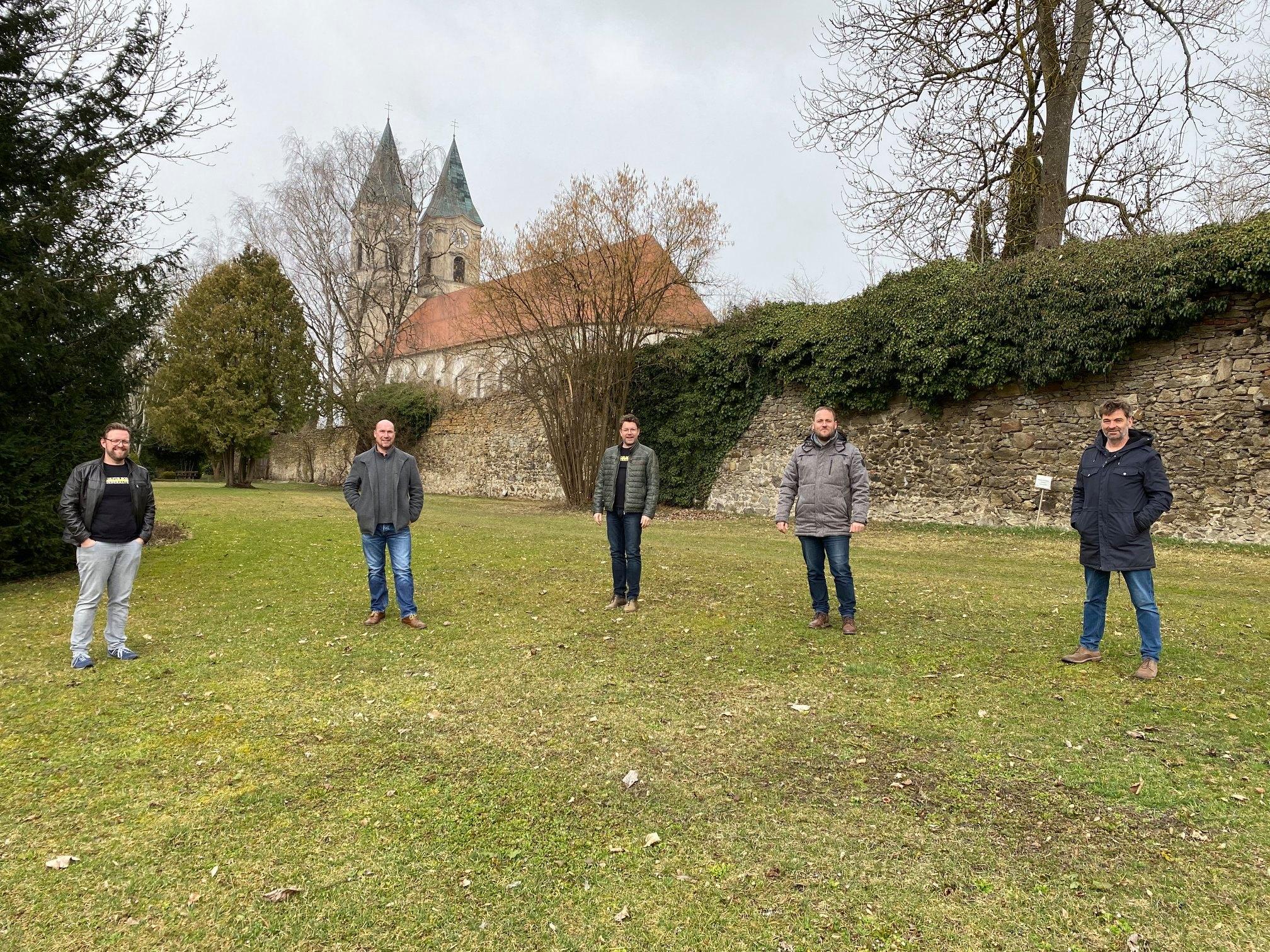 Initiatoren mit Till Hofmann auf Klosterwiese